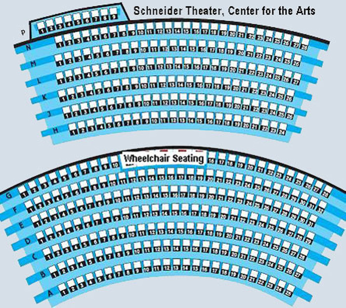 Bloomington Center for the Arts Seating Chart
