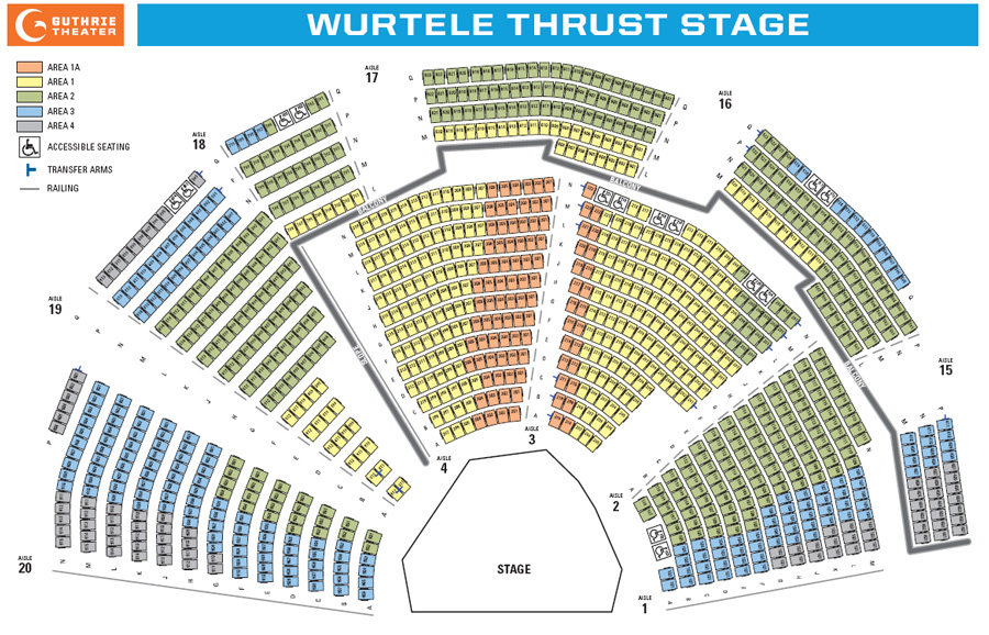 Guthrie seating chart wurtele thrust stage theatre in minneapolis