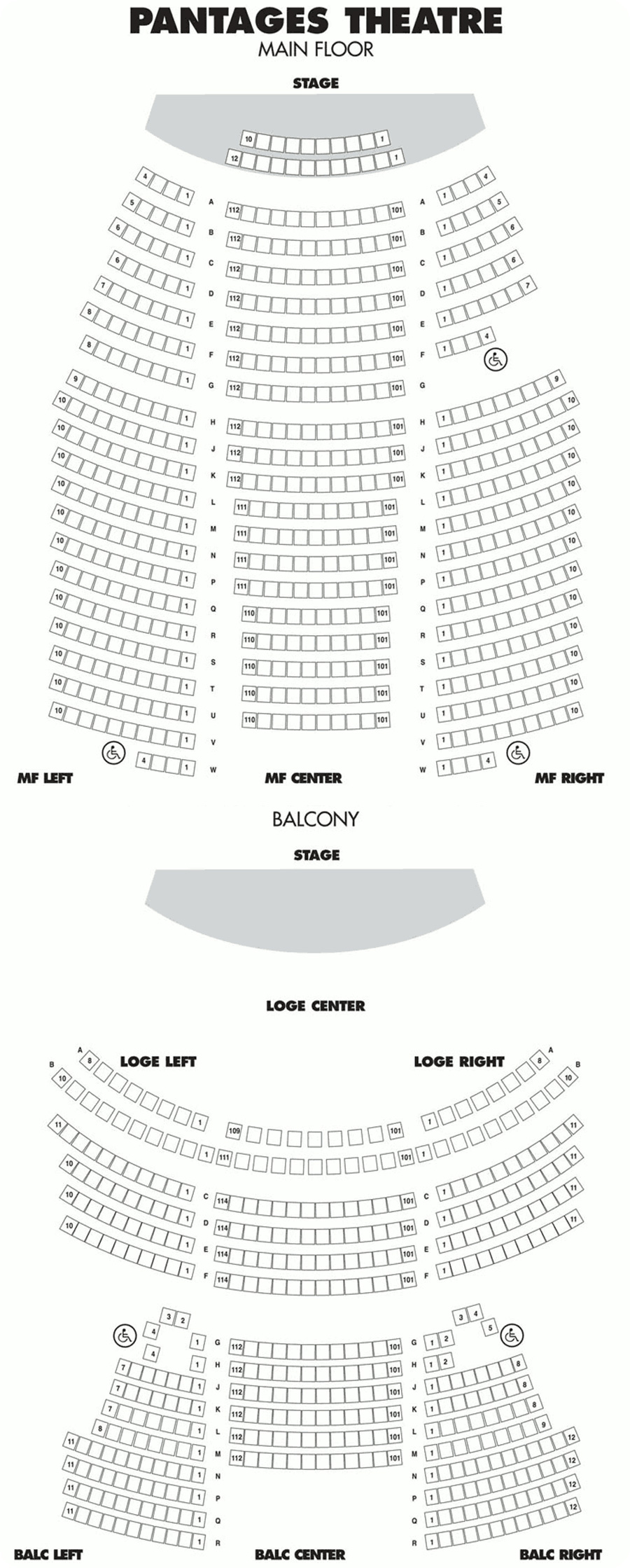 Pantages Seating Chart