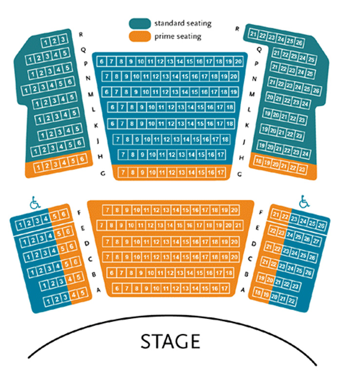 Park Square Proscenium Stage Seating Chart