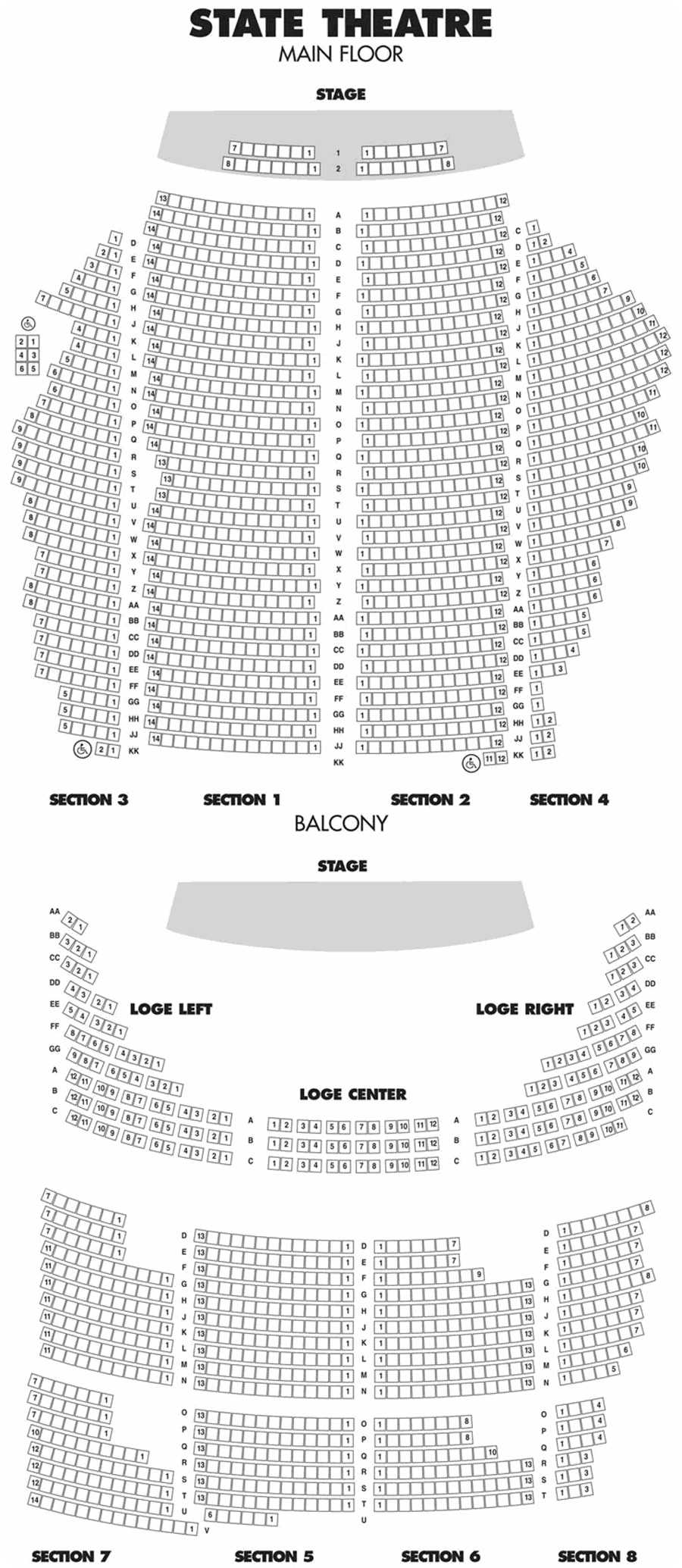 State Theatre Seating Chart Shows Curly Playing At The